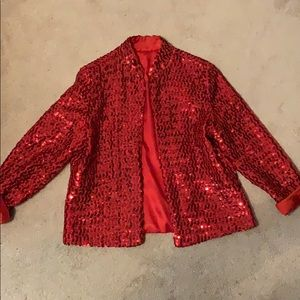 Red sequin party jacket